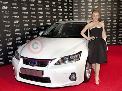 Kylie With The Lexus CT 200h