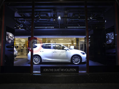 Lexus CT 200h On Display At Harrods