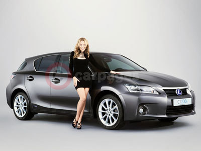 Kylie With The Lexus CT200h