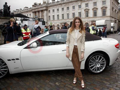 Jade Williams With The Maserati GranCabrio