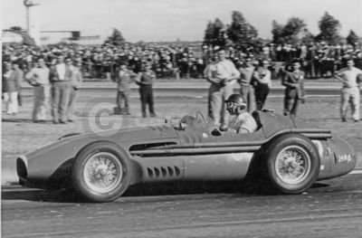 Juan Manuel Fangio in a Maserati 250F at the Buenos Aires Grand Prix in 1957