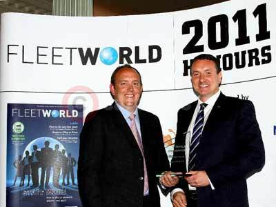 Peter Allibon (right) Receives The Award For SKYACTIV Technology