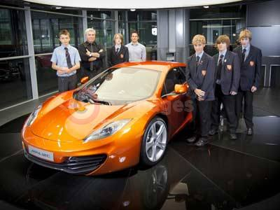 Woking High School with Frank Stephenson, Brad Fincham and the McLaren MP4-12C