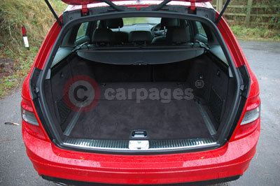 Mercedes C-Class Estate in Side the Boot