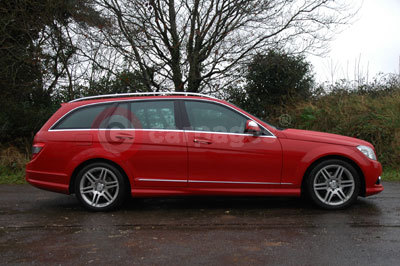 Mercedes Benz C-Class Estate Side View