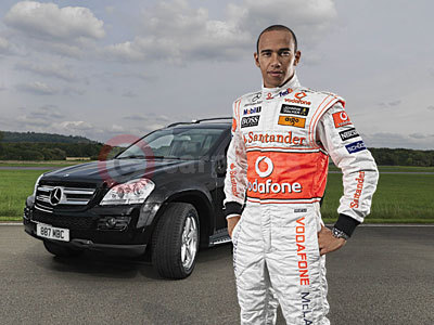 Mercedes Benz GL 320 with Lewis Hamilton