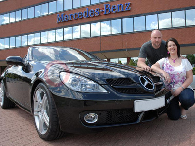 Mercedes Benz SLK-Class Winners Lucy and Andy Cross