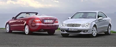Mercedes Benz CLK Class Coupe and Cabriolet