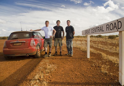 Gavin Green, Mark Bramley and Daryl Cook With Their MINI Cooper