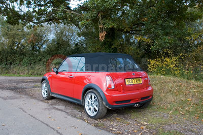 MINI Cooper S Convertible with it's roof up