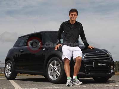 Tom Daley With His MINI One D Hatch