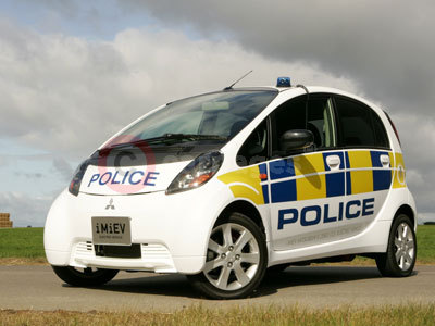 The Mitsubishi i MiEV in Full Police Livery