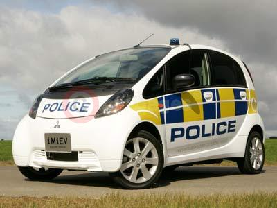 Mitsubishi i-MiEV in Police Livery