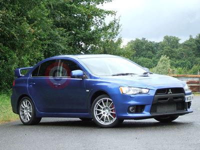 Mitsubishi Evolution X Blue. Mitsubishi Lancer Evolution