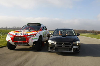 Mitsubishi Lancer Evolution X and Racing Lancer