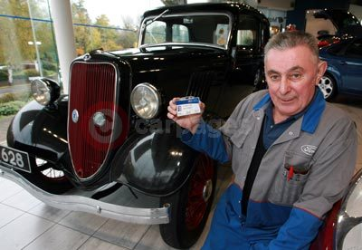Stanley Copson With a Ford Model Y