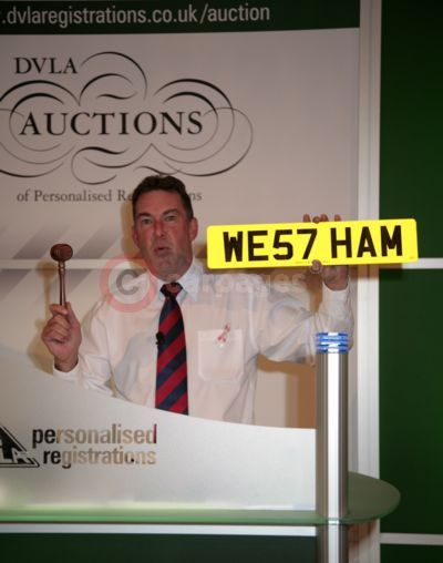 The WE57 HAM Number Plate