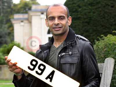 Harbhajan Bains With The Personalised numberplate 99 A