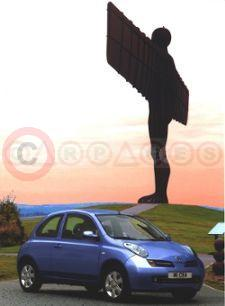 Nissan Micra 1.4 SX at the Angel of the North