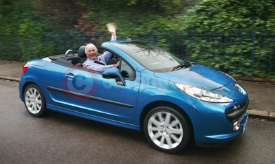 Christopher Biggins Peugeot 207 CC