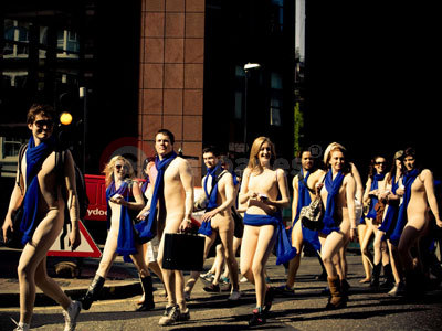 Nudes Descend On London To Celebrate The Peugeot 308CC
