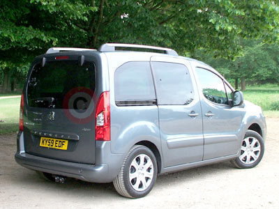 Peugeot Partner Tepee Rear View