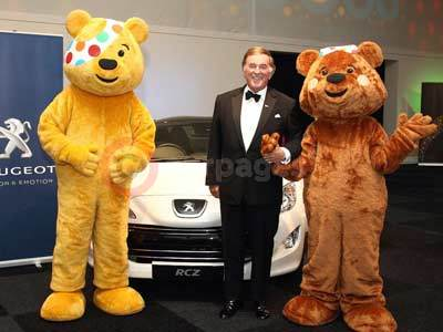 Sir Terry Wogan and Pudsey With The Peugeot RCZ