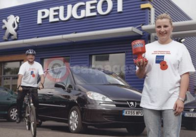 Peugeot 'Pedals To Paris' With The Royal British Legion