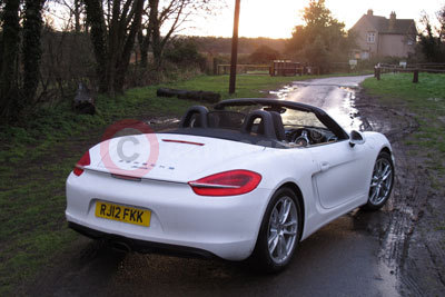 Porsche Boxster (Front / Side View) (2013)
