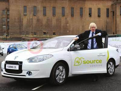 Boris Johnson With The Renault Fluence Z.E.