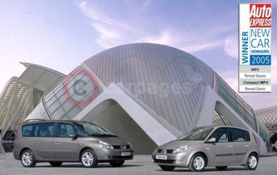Renault Espace and Scenic