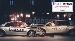Renault Wins Safety Award At Fleet World Awards 2003