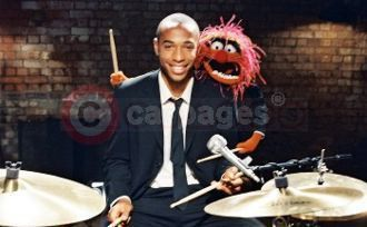 Thierry Henry and Animal From The Muppets