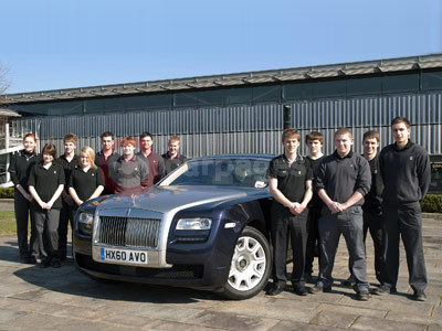 Rolls Royce Apprentices With The Rolls Royce Ghost