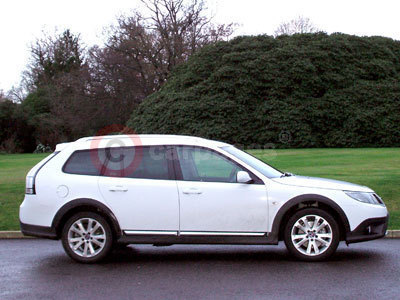 The Saab 9-3X Side View