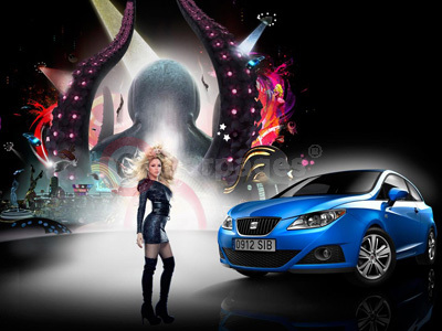 Shakira and The Special Edition SEAT Ibiza Good Stuff