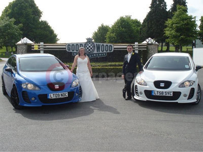 Stephanie Garner and Peter Janes With Their SEAT Leon Cupras