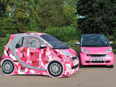Patchwork smart car With The smart fortwo pink passion