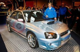 World Rally Driver Petter Solberg And The New Impreza STi 'WR1'