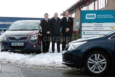 Alan Miles From The RNIB With Paul Gunter and James Lawrence From Toyota