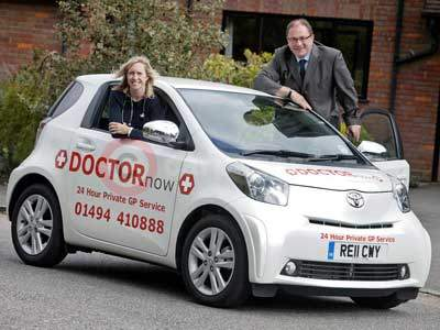 Dr Richard Angwin and Dr Sarah Marshall from DOCTORnow With The Toyota iQ