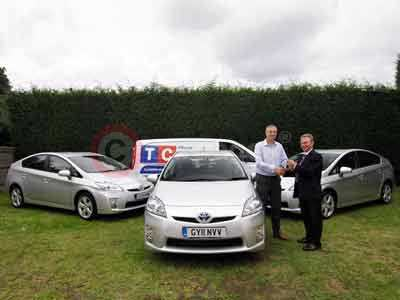 TC Cleaning Services Receives Keys To The Toyota Prius