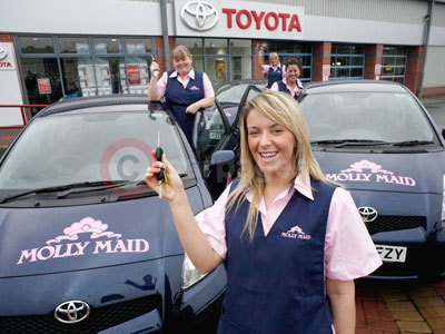 MOLLY MAID Cleaners With The Toyota Yaris