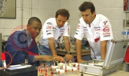 F1 Drivers Visit Toyota Training Centre At Aylesbury Young Offenders Prison