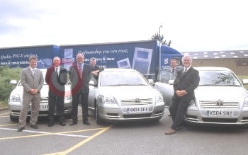 The Plastmo Team Take Delivery Of Their New Toyotas