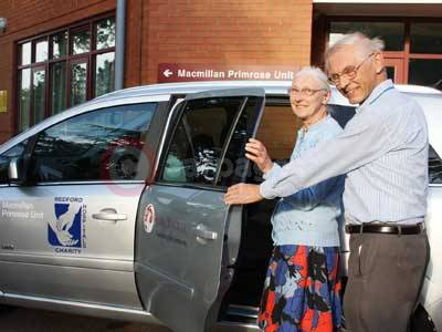 Gordon Beedon & Stephanie Wilson from Bedford Hospitals With The Vauxhall Zafira