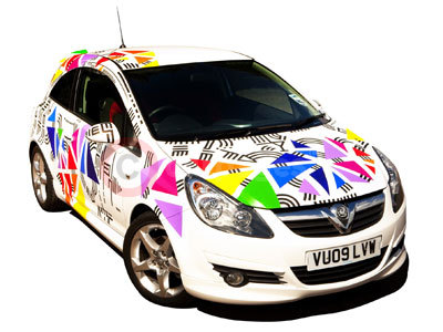 The Vauxhall Corsa Customised By Kate Moross