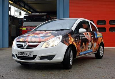 Cheshire Fire and Rescue's Vauxhall Corsa