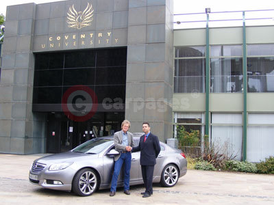 David Browne and Paolo de Luca With The Vauxhall Insignia