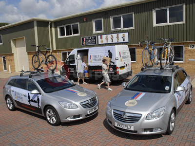 Help For Heroes Vauxhall Insignia Sports Tourers And Vauxhall Movano